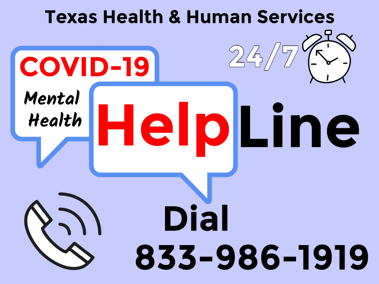 COVID-19 Mental Health Hotline